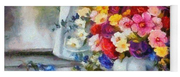 Monet Floral Edged Yoga Mat