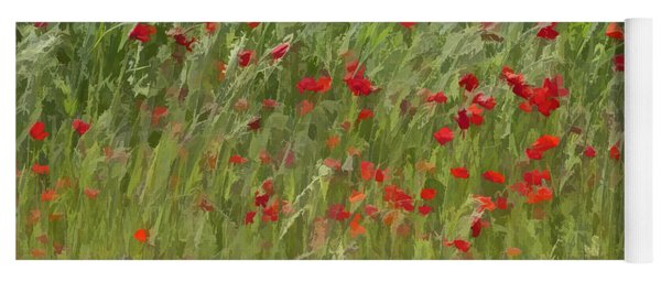 Monet Poppies IIi Yoga Mat