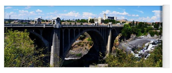 Monroe Street Bridge - Spokane Yoga Mat