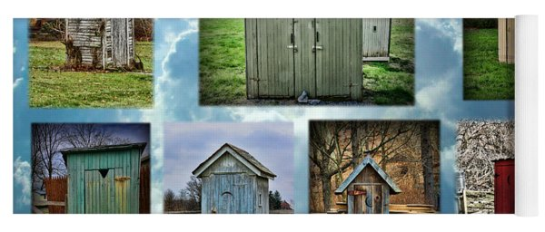 Montage Of Outhouses Yoga Mat
