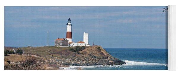 Montauk Lighthouse/camp Hero/inspirational Yoga Mat