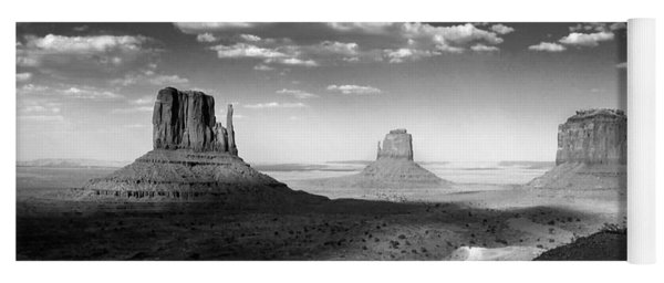 Monument Valley In Black And White Yoga Mat
