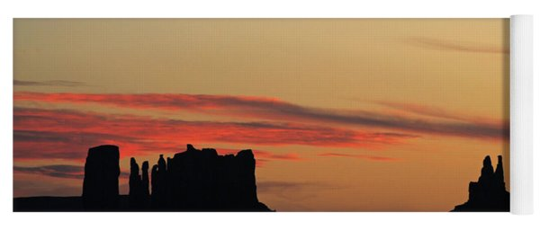 Monument Valley Sunset 1 Yoga Mat
