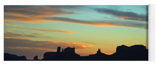 Monument Valley Sunset 4  Yoga Mat