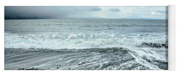 Moody Waves French Beach Yoga Mat