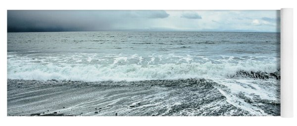 Moody Waves French Beach Yoga Mat