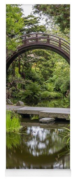 Moon Bridge Vertical - Japanese Tea Garden Yoga Mat