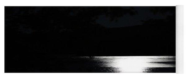 Moon On Waterton Lake Yoga Mat