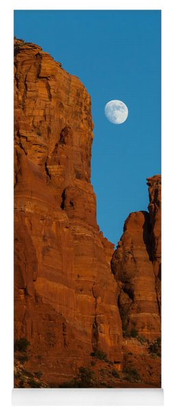 Moon Over Chicken Point Yoga Mat