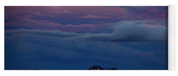 Moon Over Rockies Yoga Mat