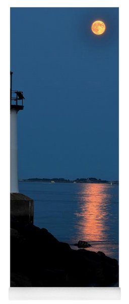 Moon Over Winter Island Salem Ma Yoga Mat