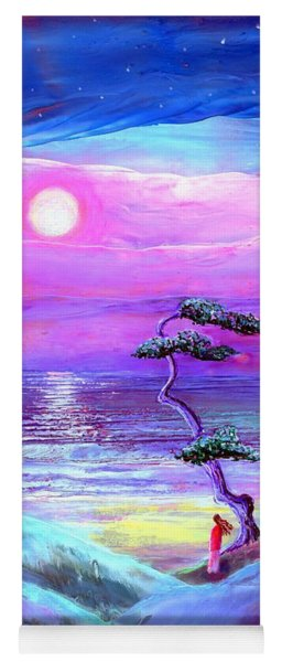Moon Pathway,seascape Yoga Mat