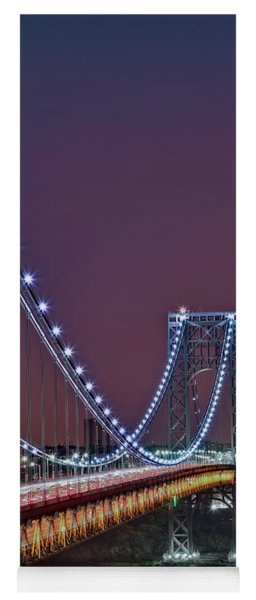 Moon Rise Over The George Washington Bridge Yoga Mat