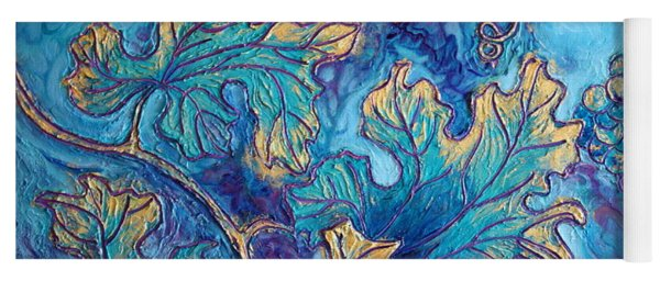 Yoga Mat featuring the painting Moonlight On The Vine by Sandi Whetzel