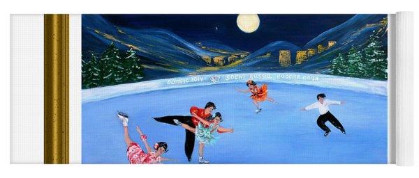 Moonlight Skating. Inspirations Collection. Card Yoga Mat