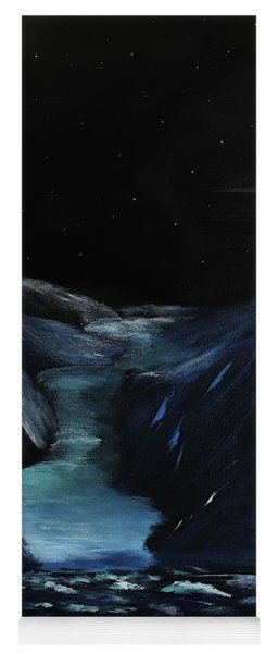Moonlit Glacier Yoga Mat