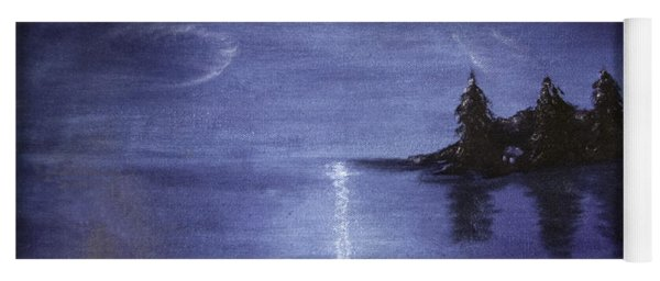 Moonlit Lake Yoga Mat