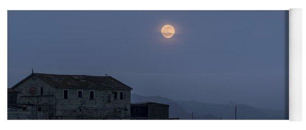 Moonrise Over The Harbor Yoga Mat