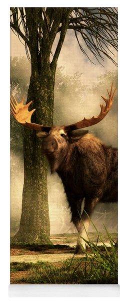 Moose And Squirrel Yoga Mat