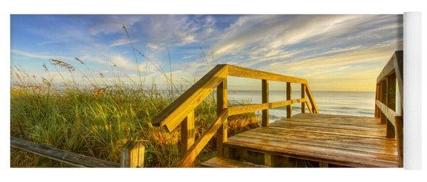 Morning Beach Walk Yoga Mat