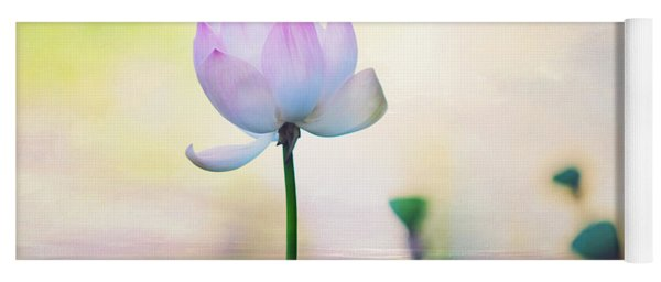 Morning Breeze And Beautiful Lotus Yoga Mat