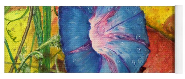 Morning Glory Bloom In Apples Yoga Mat
