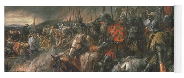 Morning Of The Battle Of Agincourt, 25th October 1415, 1884 Oil On Canvas Yoga Mat