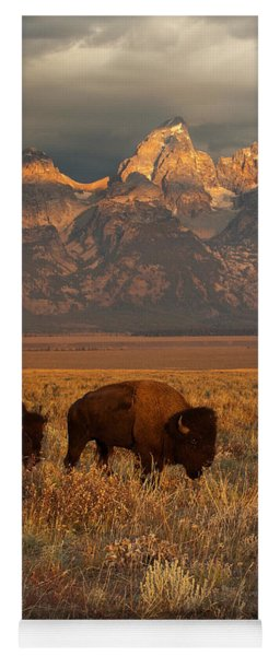 Morning Travels In Grand Teton Yoga Mat