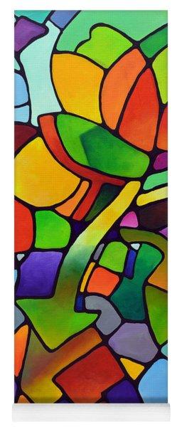 Mosaic Bouquet Yoga Mat