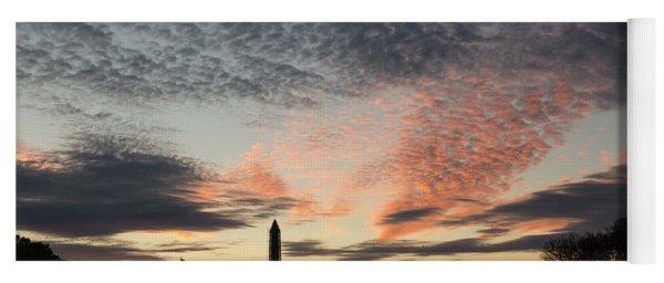 Mother Nature Painted The Sky Over Washington D C Spectacular Yoga Mat