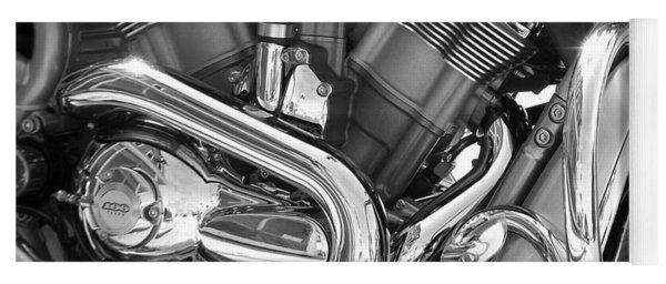 Motorcycle Close-up Bw 1 Yoga Mat