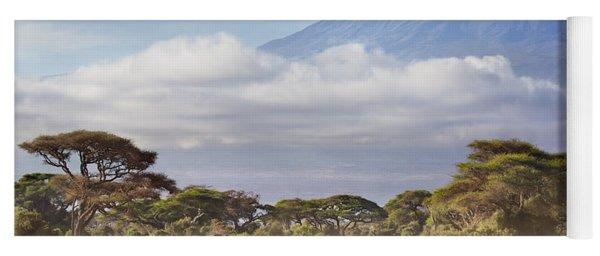 Yoga Mat featuring the photograph Mount Kilimanjaro Amboseli  by Richard Garvey-Williams