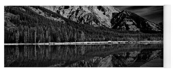 Mount Moran In Black And White Yoga Mat