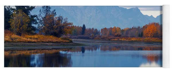 Mount Moran From Oxbow Bend In Autumn Yoga Mat