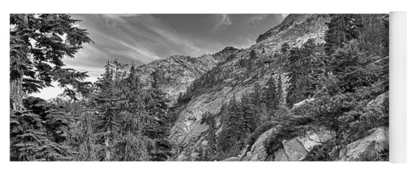 Mount Pilchuck Black And White Yoga Mat
