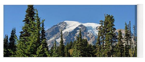 Mount Rainier Evergreens Yoga Mat