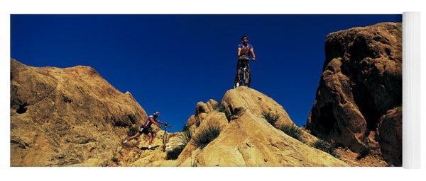 Mountain Bikers Ca Usa Yoga Mat