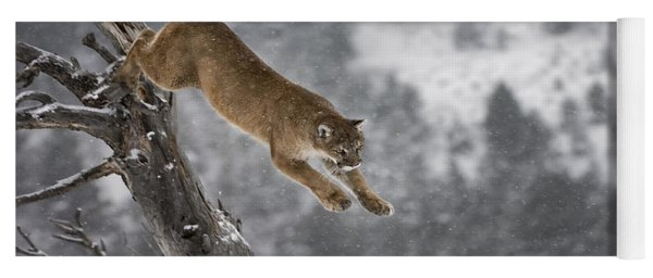 Mountain Lion - Silent Escape Yoga Mat
