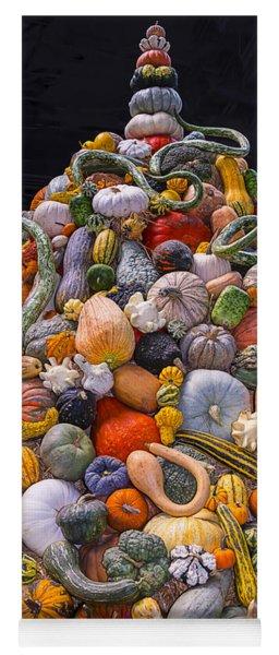 Mountain Of Gourds And Pumpkins Yoga Mat