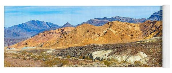 Mountain Range, Borax Mine, Death Yoga Mat