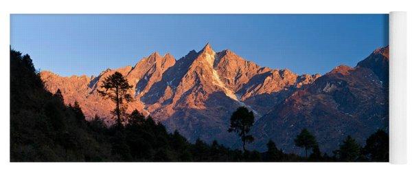 Mountain Range, Gonglha Peak Yoga Mat