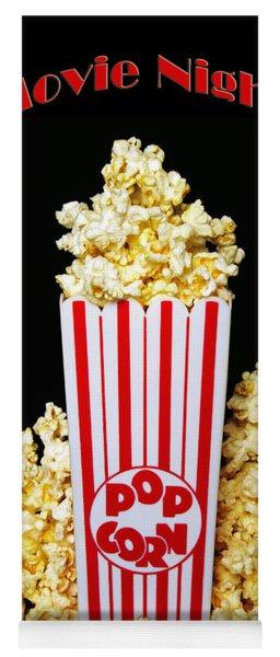 Movie Night Pop Corn Yoga Mat