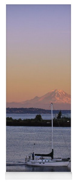 Mt. Rainier Afterglow Yoga Mat