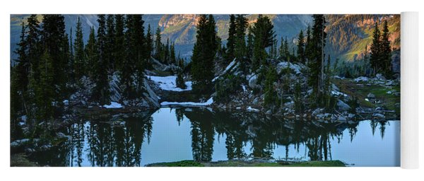 Mt. Timpanogos At Sunrise From Silver Glance Lake Yoga Mat