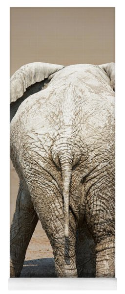 Muddy Elephant With Funny Stance  Yoga Mat