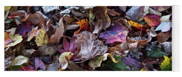 Multicolored Autumn Leaves Yoga Mat