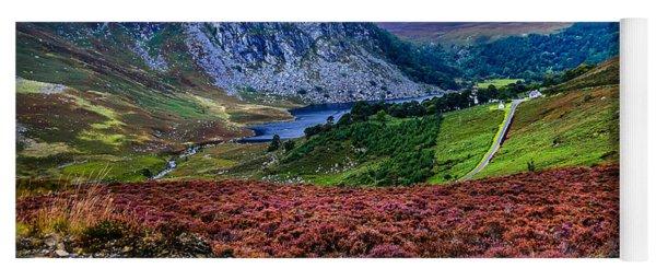 Multicolored Carpet Of Wicklow Hills. Ireland Yoga Mat