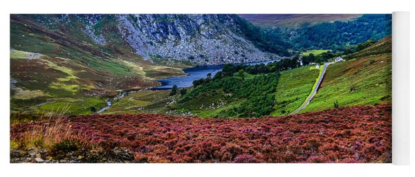 Multicolored Carpet Of Wicklow Hills. Ireland Yoga Mat