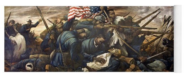 Mural Of The 54th Massachusetts And Colonel Shaw  Yoga Mat