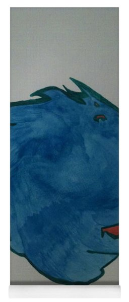 Yoga Mat featuring the painting Murphy by Gina Bonelli